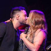 Beijo no namorado, visita da filha e trocas de looks: a gravação do novo DVD de Simony