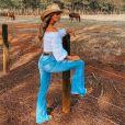Biah Rodrigues apostou em um look country para a live