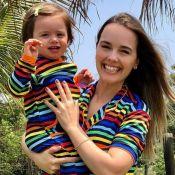 Thaeme Mariôto posta fotos da filha e destaca crescimento de Liz: 'Tá uma mocinha'