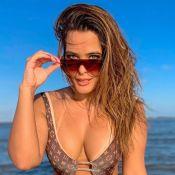 Geisy Arruda entrega segredo para usar beachwear de bem com corpo: 'Dieta low carb'