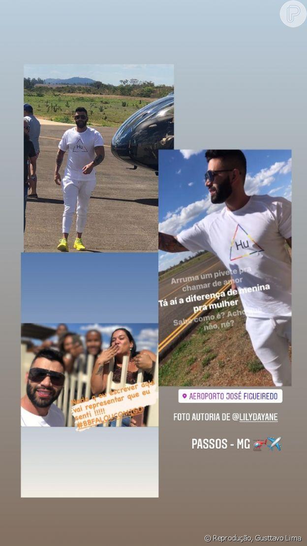 Após separação, Gusttavo Lima faz foto com fãs em Minas Gerais