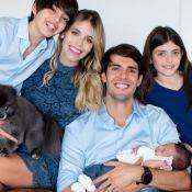 Veja 1ª foto do jogador Kaká com 3 filhos e mulher, Carol Dias!