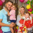 Zé Neto e Natália Toscano comemoram 6º de vida a filha, Angelina