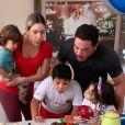 Thyane Dantas faz foto com filhos e herdeiro  de Wesley Safadão