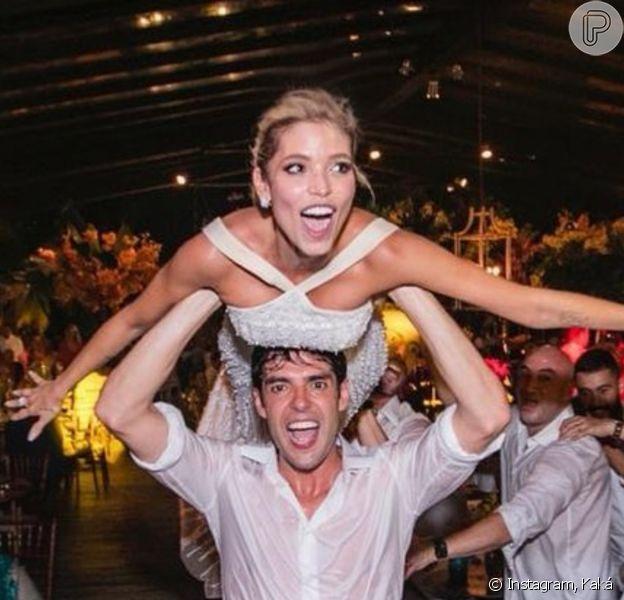 Casamento de Kaká e Carol Dias completa 1 ano nesta segunda-feira, 30 de novembro de 2020: 'Dia inesquecível! Que privilégio construir essa família ao seu lado'