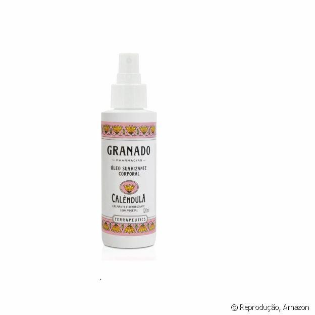 Óleo corporal com embalagem de spray facilita aplicação no corpo