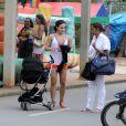 Malvino Salvador curte domingo ao lado da família em quiosque da Lagoa, na Zona Sul do Rio de Janeiro