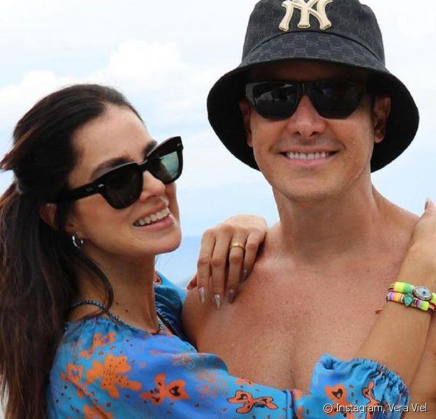 Vera Viel explica detalhe curioso em look praia de Rodrigo Faro. Veja foto!