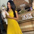 Além do branco, o amarelo também esteve presente no look das celebs, como Graciele Lacerda