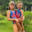 Filhas de Ticiane Pinheiro chamaram atenção em foto: ' Uma a carinha da mamãe e a outra, a carinha do papai'