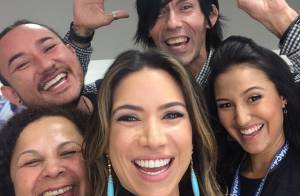 Patricia Abravanel é recebida com festa nos bastidores do SBT após gravidez