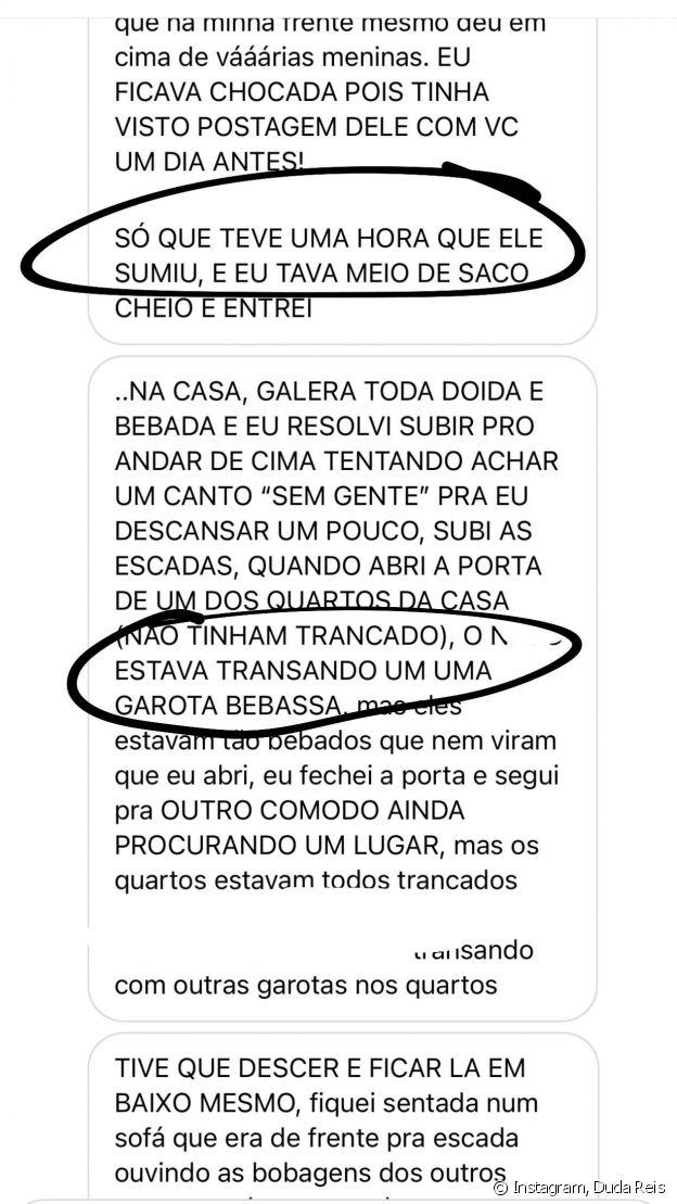 Ex-noiva de Nego do Borel mostra conversa com internauta que revelou traição