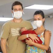 Talita Younan e João Gomez deixam hospital após nascimento da filha, Isabel. Fotos!