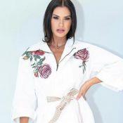 Andressa Suita exibe coxa sarada em vestido curto em evento. Detalhes do look!