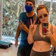 Mariana Bridi está empenhada em uma rotina de exercícios