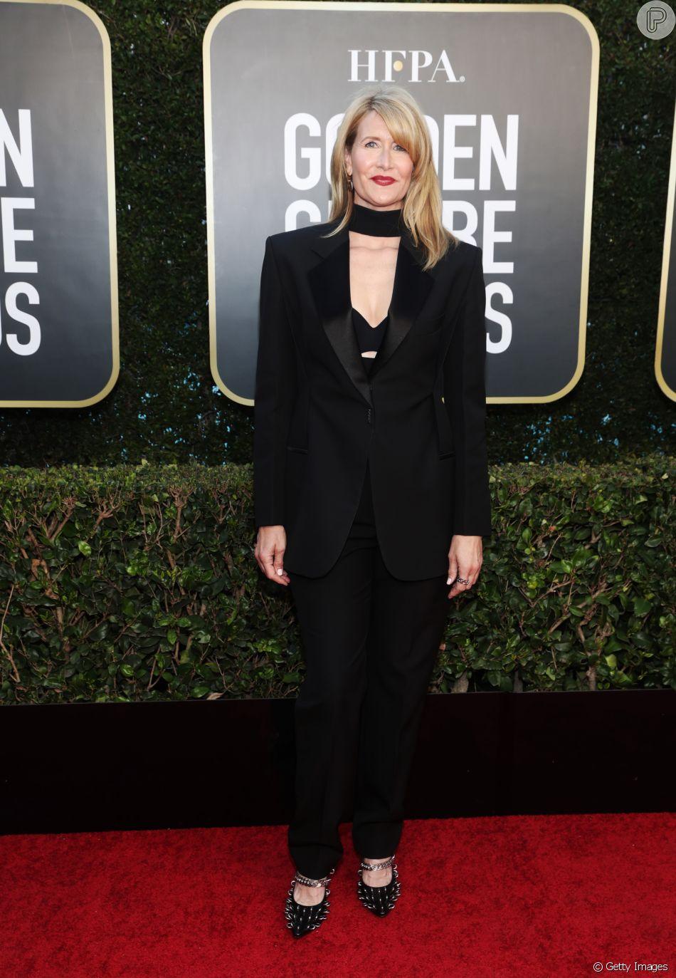 Laura Dern usa terninho Givenchy no 'Globo de Ouro'!