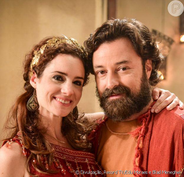 Novela 'Gênesis': Ló (Emilio Orciollo Netto) e Ayla (Elisa Pinheiro) se desentendem logo após casamento