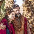 Novela 'Gênesis': Ló (Emilio Orciollo Netto) e Ayla (Elisa Pinheiro) indicam que passam a se entender após ela mostrar interesse em morar na cidade de Sodoma