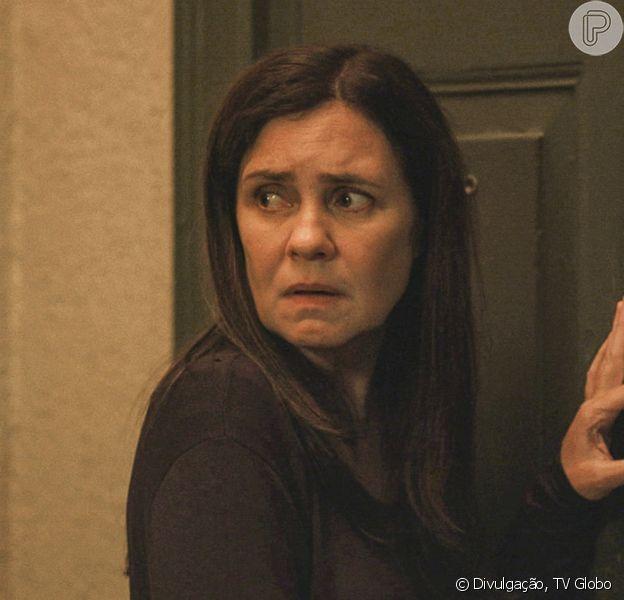 Última semana da novela 'Amor de Mãe': Camila (Jéssica Ellen) se desespera ao notar que Thelma (Adriana Esteves) sequestrou seu filho