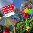 José Loreto organiza piquinique no aniversário de três anos da filha, Bella