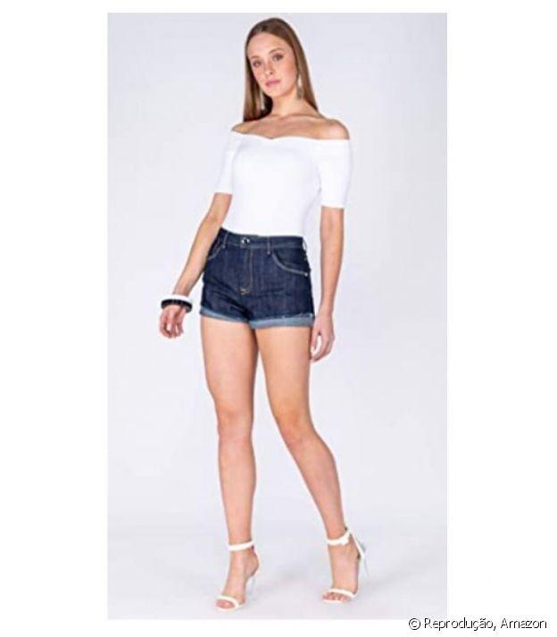 Shorts Modelagem boyfriend Feminino, Dimy - R$169,90