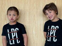 Andressa Suita chama atenção para evolução dos filhos em foto: 'Estão crescendo!'