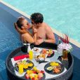 Maiara e Fernando Zor viajaram no começo do ano para as Ilhas Maldivas