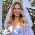 Solange Almeida e  Monilton Moura se casaram no civil em cerimônia para poucos convidados