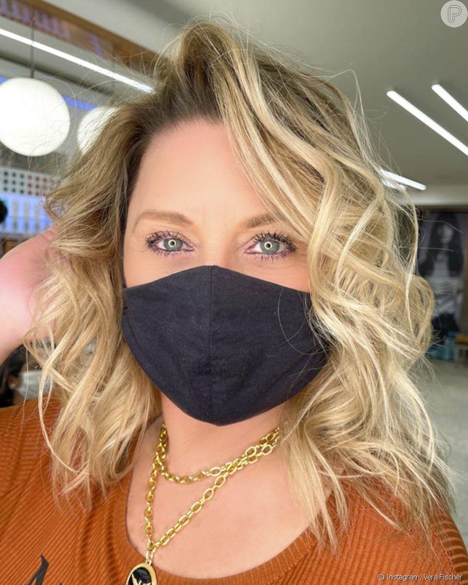 Vera Fischer já tomou a vacina contra Covid-19 e defende uso de máscara