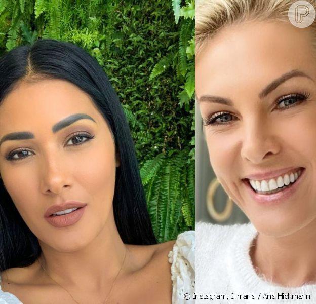 A diferença de altura entre Simaria e Ana Hickmann roubou a cena na web