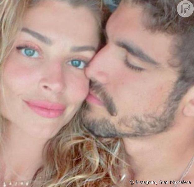 Grazi Massafera faz 39 anos e ganha os parabéns do namorado, Caio Castro, e do ex-marido, Cauã Reymond