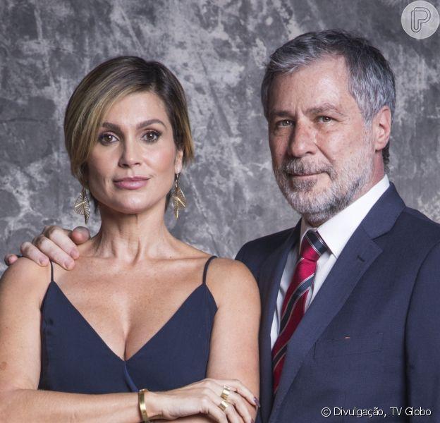Novela 'Salve-se Quem Puder': Luna (Juliana Paiva) teme que Helena (Flávia Alessandra) seja processada pela morte de Hugo (Leopoldo Pacheco)