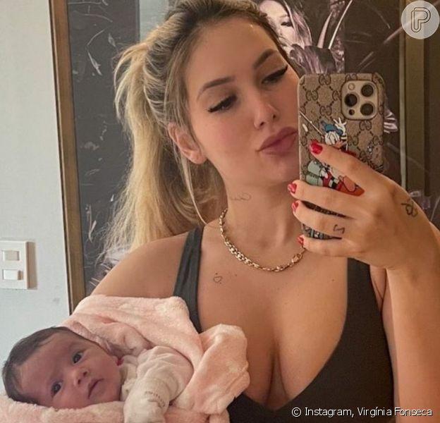 Virgínia Fonseca exibe corpo 32 dias após parto de Maria Alice, em 03 de julho de 2021