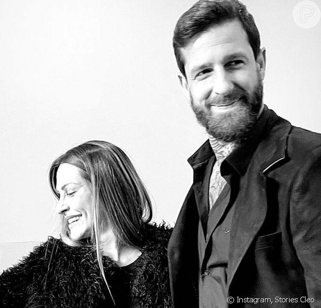 Cleo e Leandro D'Lucca se casaram no civil nesta sexta-feira (09)