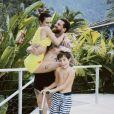 Cleo apresenta bom relacionamento com filho de Leandro D'Lucca, Gael, de 8 anos