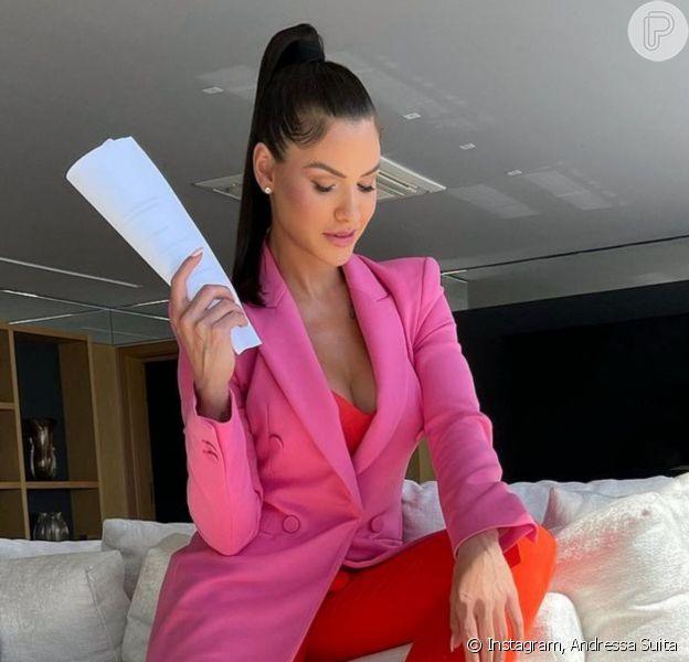 Andressa Suita encerra gravações e anuncia 'novidades' na carreira: 'Aprendizado'