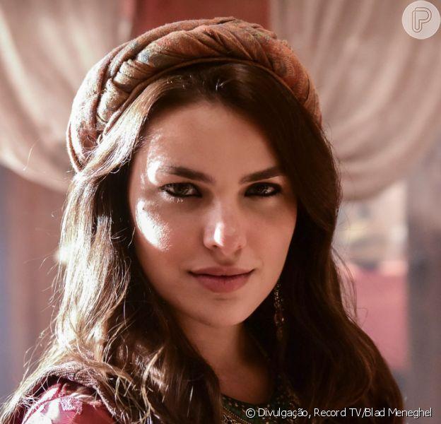 Novela 'Gênesis': Raquel (Thais Melchior) se enfurece com condição do pai, Labão (Heitor Martinez), para se casar com Jacó (Miguel Coelho)
