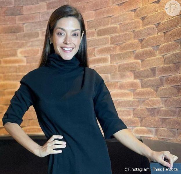 Thais Fersoza combinou vestido com tênis e ganhou elogios na web
