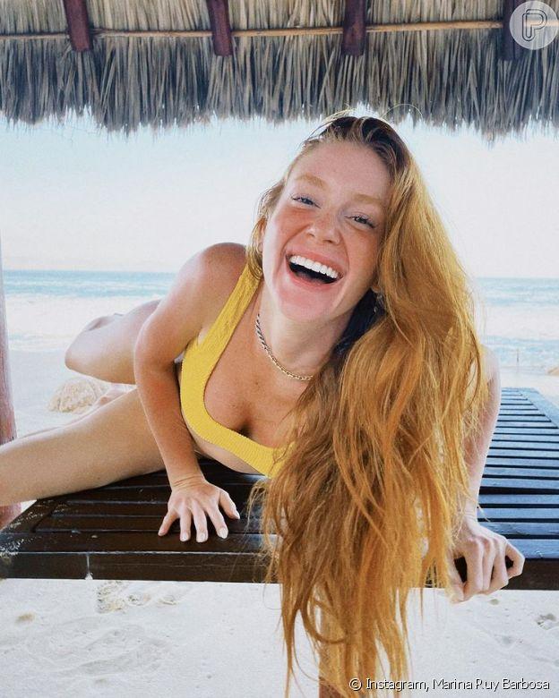 Marina Ruy Barbosa recebeu elogios de famosas em fotos de biquíni