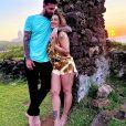 Cleo passou a primeira parte da lua de mel com Leandro em Fernando de Noronha