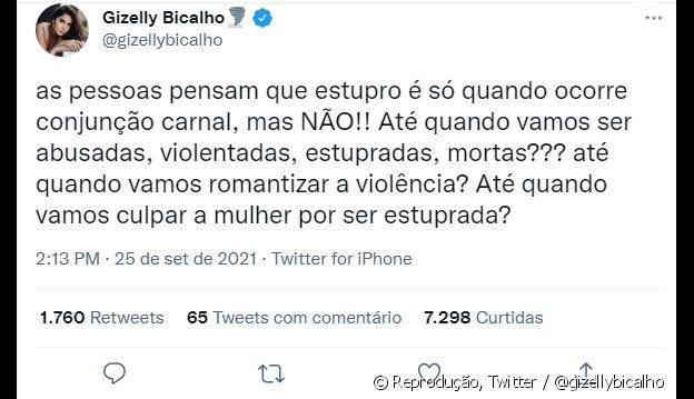 Gizelly Bicalho, advogada da ex de Nego do Borel, também se pronunciou