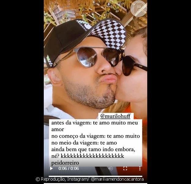 Marília Mendonça entrega mudança no relacionamento com Murilo Huff durante viagem