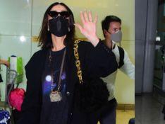 Sabrina Sato usa aerolook de R$ 23 mil com porta-fone e bolsa grifados após PFW. Fotos!
