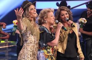 Fernanda Lima recebe mãe e tia no palco do  Amor   Sexo    As irmãs Cama!  4d2abba139