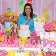 A cantora montou uma festa para receber as convidadas do evento beneficente, que tem renda revertida para Sociedade Viva Cazuza