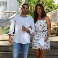 Ivete posou com o marido antes da coletiva de imprensa