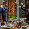 Enrico (Joaquim Lopes) já teve um embate com José Alfredo (Alexandre Nero) na cozinha de Manoel (Jackson Antunes), em 'Império'