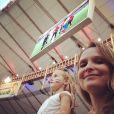 Fernanda Rodrigues fez questão de levar a filha para assistir a alguns jogos da Copa do Mundo nos estádios