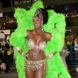 Cris Vianna é rainha de bateria da escola de samba Imperatriz Leopoldinense, do Rio de Janeiro