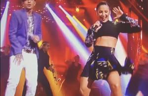 Claudia Leitte canta de barriga de fora com MC Guimê no 'The Voice Brasil'